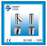 Tubo de combustão em aço inoxidável para Kits de chaminé com marcação CE/UL certifica