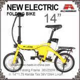 14-дюймовый складной электрический велосипед в сложенном виде электрический велосипед сплава