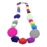 New Style Design Silicone Teether Toy Necklace Baby Dentição Colares