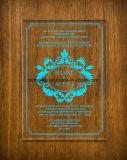 カスタム絶妙なレーザーによって切られる明確なアクリルの結婚式の招待のカード
