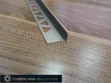 L'aluminium profile L équilibre de bord de tuile de forme avec la couleur de Champagne