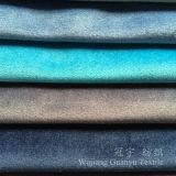 Velluto domestico del poliestere del tessuto del sofà della tessile con il trattamento Polished