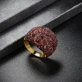 De grote Bruine Ring van de Juwelen van de Legering van het Kristal van de Douane Imitatie