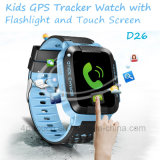 Сенсорный экран ребенка/Детский Портативные GPS Tracker посмотреть с помощью фонарика D26