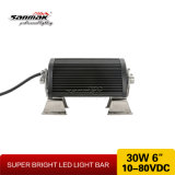 6 '' 30W fuera de la carretera 4X4 mini barra ligera del LED