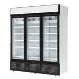Стеклянные двери супермаркетов безалкогольный напиток дисплей холодильник с боковой сдвижной двери