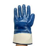 Jersey de coton Doublure entièrement enduit à base de nitrile gants de sécurité pour les travailleurs du brassard