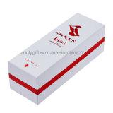 Clinquant rouge estampant la boîte de empaquetage à vin de cadeau rigide de panneau de logo pour la bouteille simple