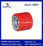 Хорошая Грузоподъемность полиуретан низкоподъемная тележка красного колеса