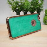 Caja Electroplated del teléfono del jade de mármol de lujo para el iPhone 6/6s