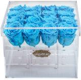 Prix compétitif de l'acrylique préservé Don Fleur Rose Boîte avec couvercle