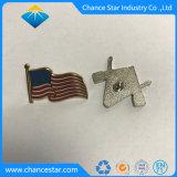 Пользовательский жесткий эмаль металлический флаг петличный знак контакт