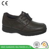 Здоровье фиоритуры обувает ботинки ширины кожаный вскользь 8615738-2