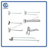 Heiße verschiedene Metallaufhängungs-Zahnstangen-Haken-Großhandelsbildschirmanzeige