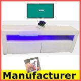 居間の新しいモデルMDF木LED TVの立場デザイン