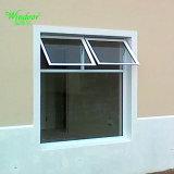 Style bon marché à double volet de fenêtre PVC avec un seul verre