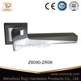 매트 공단 니켈 정연한 근엽 (Z6108-ZR09)에 입방형 문 레버 손잡이