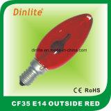 CF35 colorido llama Lámpara Incandescente vela