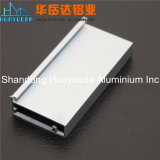 A anodização perfil de alumínio de extrusão em alumínio prateado Perfil para porta de vidro