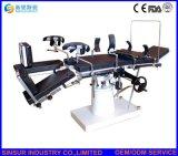 Mesas de operaciones quirúrgicas ajustables manuales del uso general del equipamiento médico del hospital