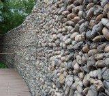 Malha de Arame Hexagonal galvanizado Gabião Box caixa de gabião soldados