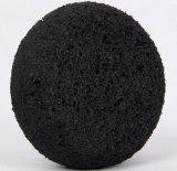 O PVA Round esponja de banho/ esponja de limpeza de carvão de bambu