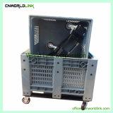 1000kg populares ventilado de plástico Palete de armazenamento de rolagem na caixa grande venda
