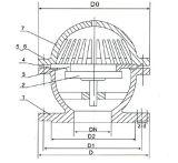 "Edelstahl-unteres Ventil J44W-16p (1/2 "" - 10 "")"