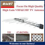 Antena de TV 32 registo periódico do elemento exterior VHF UHF FM