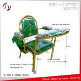 Grüne Gewebe-goldene Rahmen-Kapellen-spätester moslemischer Gebet-Stuhl (MC-4)