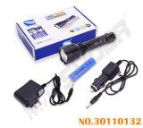 공장 가격 재충전용 플래쉬 등 알루미늄 합금 LED 토치 (토치 D8)