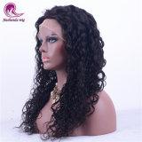 Belos cabelos longos cabelos virgens da onda de água Swiss Lace Full Lace Peruca