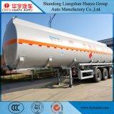 화학 액체 또는 가연물 디젤유 또는 가솔린 수송을%s 반 40cbm 알루미늄 합금 유조선 트레일러