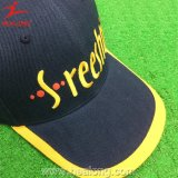 Цветом Healong голубым и желтым подгонянная бейсбольная кепка ткани Twill (шлем)
