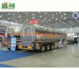 カスタマイズされたオイルのディーゼル輸送の燃料のタンカーはトラックタンクトレーラーに半値を付ける
