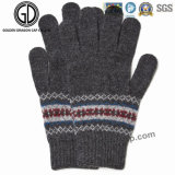 Fashion Jacquard Acrylic Glove方法冬の暖かい女性