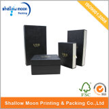 Подгонянная коробка дешевого твердого бумажного подарка упаковывая с окном/горячим штемпелевать (QYCI006)