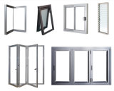 Double porte en verre en aluminium pour porte coulissante en angle