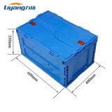 Tamanhos padrão Fodable caixas plásticas abertas com tampas Design Collapsable