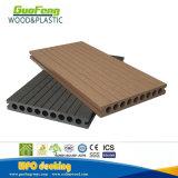 Decking composé en plastique en bois creux avec le trou rond