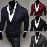 Casaco de lã de lã da camisola dos homens finos da garganta do inverno/outono V