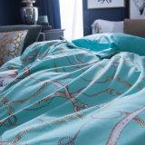 Tampa luxuosa do Quilt da folha de base do fundamento da HOME do algodão
