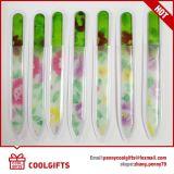 아름다운 주문을 받아서 만들어진 코팅 인쇄를 가진 도매 다채로운 유리제 손톱용 줄칼