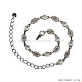 Cinghie Chain Hip all'ingrosso del metallo della vita a cristallo del Rhinestone dell'argento e dell'oro