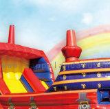 2 en 1colores personalizados saltando clásico barco con tobogán y Bouncer