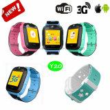 熱い3GネットワークカメラY20が付いているスマートな子供GPSの追跡者の腕時計
