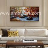 目に見える質の壁の装飾のためのハンドメイドの森林油絵