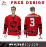 Uniformes blancos sublimados el tinte más barato del hockey de Healong