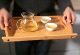 2016 paletes de madeira bandeja de chá em bambu completo Tapete com apresentação binaural