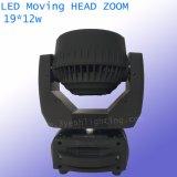 indicatore luminoso capo mobile della lavata dello zoom del fascio dello zoom di 19*12W RGBW LED